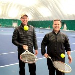 Chris Dobson, left, and Bryan DeVergilio, co-owners of  the Wessen Indoor Tennis Club in Pontiac.   Thursday, March 26, 2015. Tim Thompson-The Oakland Press