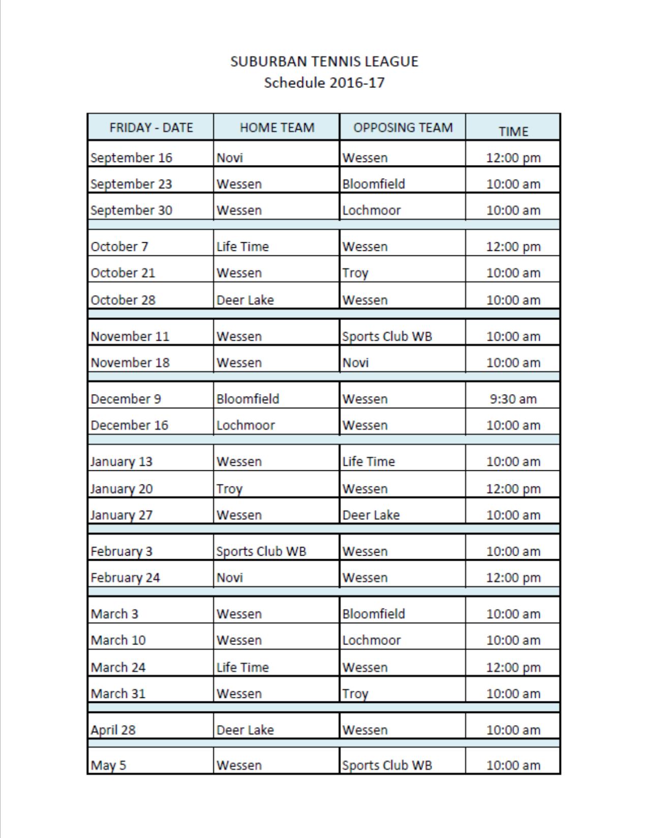 Suburban Schedule PNG